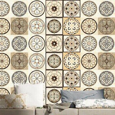 20Pcs Wall Floor Stickers Mosaic Decal Vinyl Kitchen