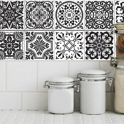 20Pcs Tile Floor Mosaic Decal Vinyl Art Decor