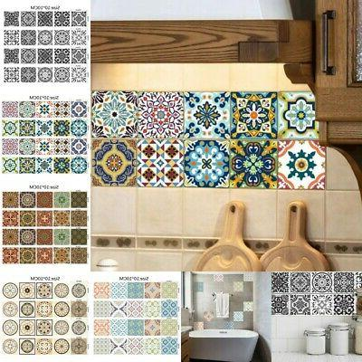 20pcs adhesive tile wall floor stickers mosaic