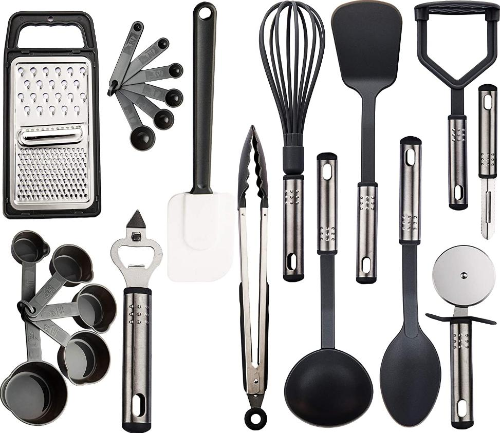 24 Set Cooking Tools Stainless Steel Lux Decor