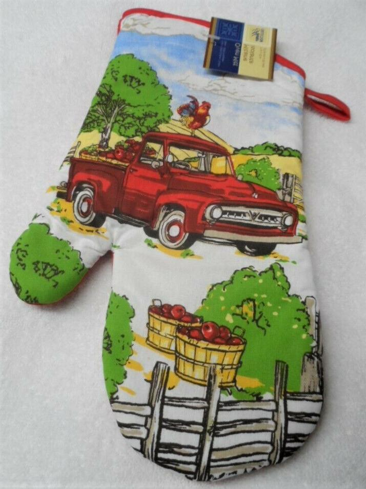 3 Red Truck Country Decor Potholders, set
