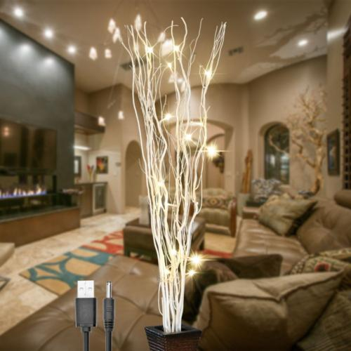 36inch 16led natural willow twig lighted branch