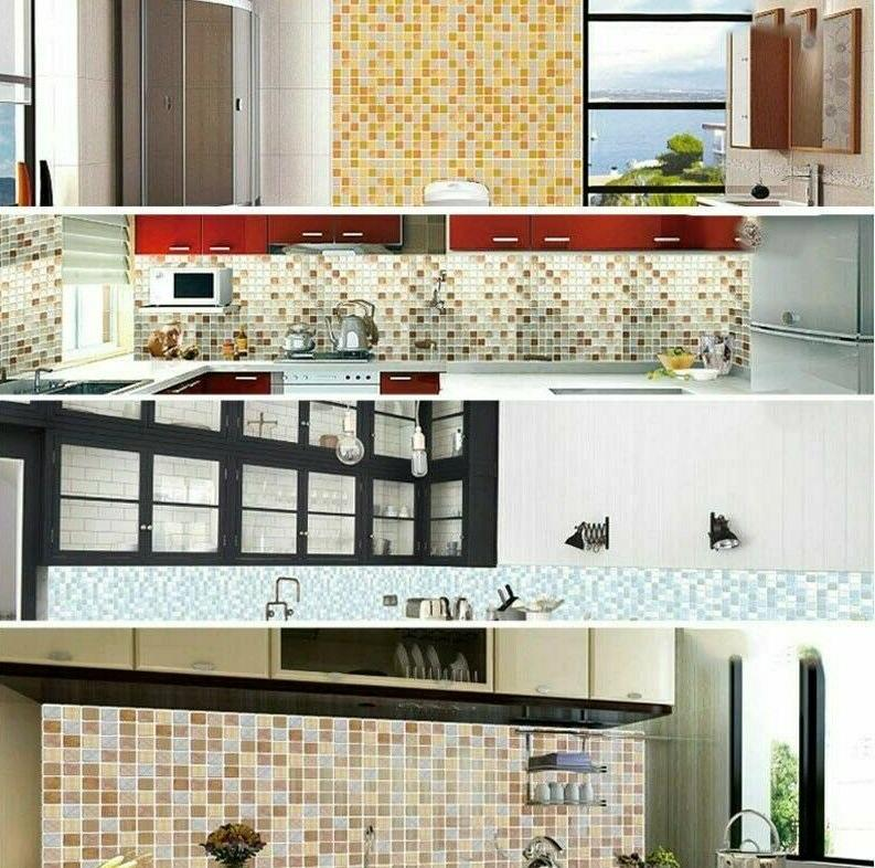3D Wall Sticker Tile For Kitchen Decor