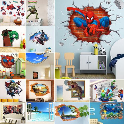 3D Wall Stickers Removable Kids Nursery Xmas Room Home Decor