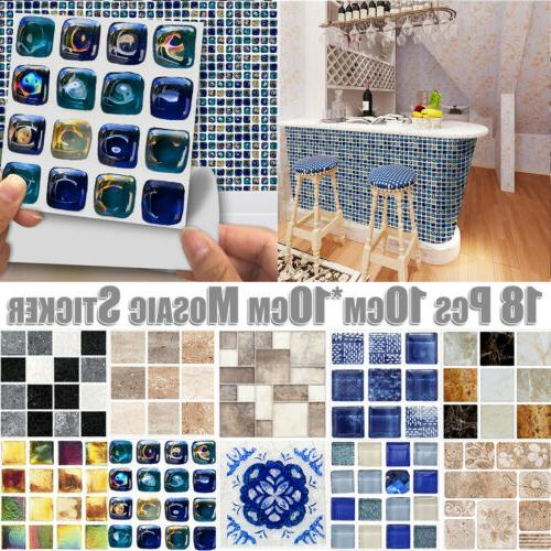 3D Waterproof Bathroom Kitchen Tile Wall Home Decor