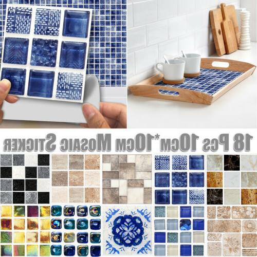 3D Bathroom Kitchen Tile Mosaic Wall Home
