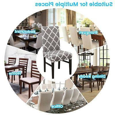 4pcs Dining Chair Protector Removable Home Banquet Decor