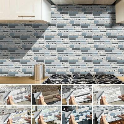 54pcs self adhesive mosaic brick tile 3d