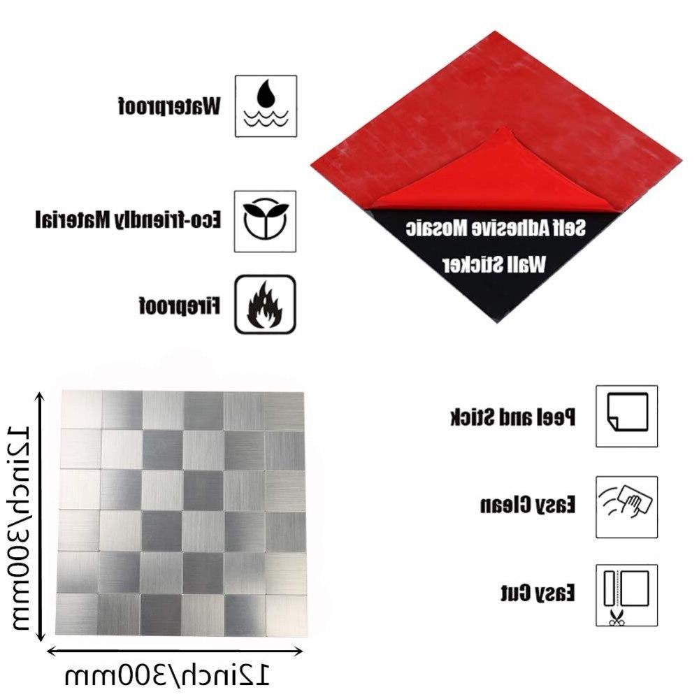 Stickers Home Room Metal Mosaic Tiles for <font><b>Kitchen</b></font> Inch