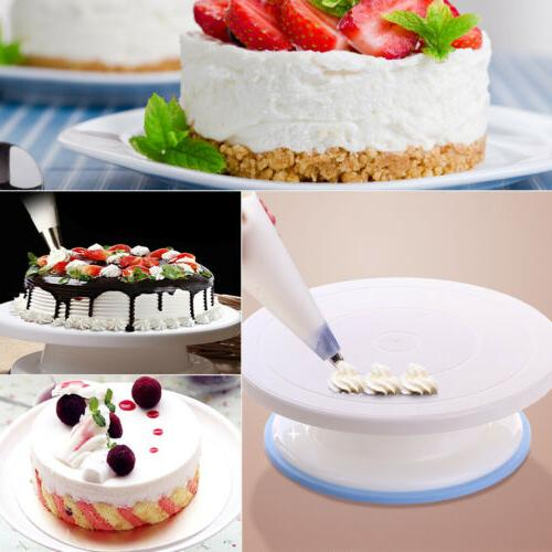 6pcs Cake Decorating Pieces Turntable Stand Supplies