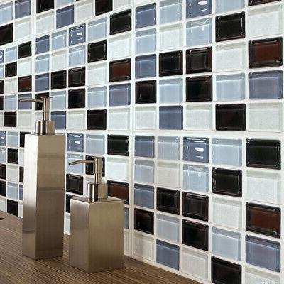 6 X Mosaic Self-adhesive Wall Tile Bathroom US