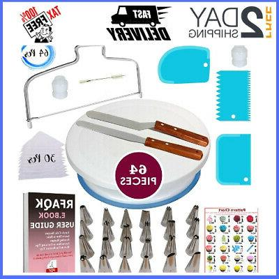 64 Kitchen Utensils & Gadgets Pcs Cake Decorating Supplies W