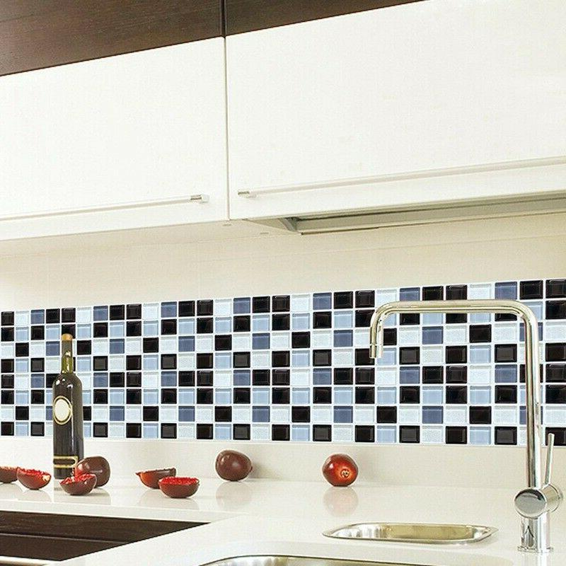 6X Self-adhesive Bathroom Kitchen mosaic Stickers