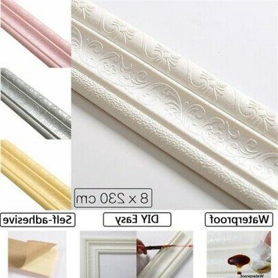 3D Waterproof Wall paper Sticker Self-adhesive Kitchen Borde