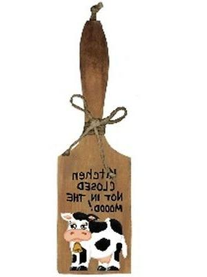 country Cow paddle Decorative wood wall sign
