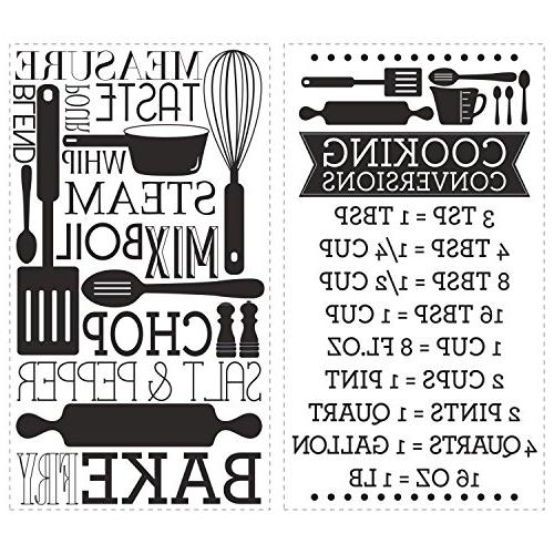 Cooking Conversions Stick Wall Decals