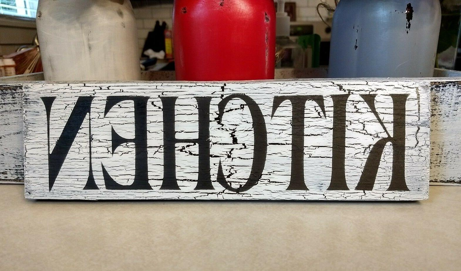 KITCHEN farmhouse sign wood rustic wooden home decor kitchen