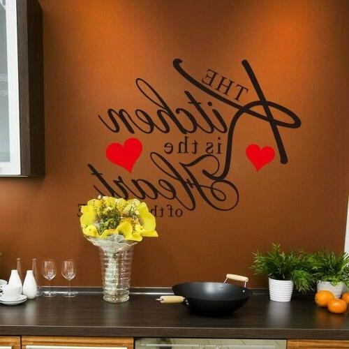 Kitchen Wall Words Home Mural Decal