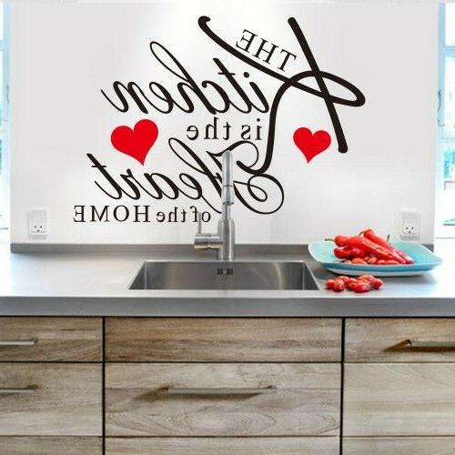 Kitchen Wall Vinyl Words Phrases Home Decor Mural