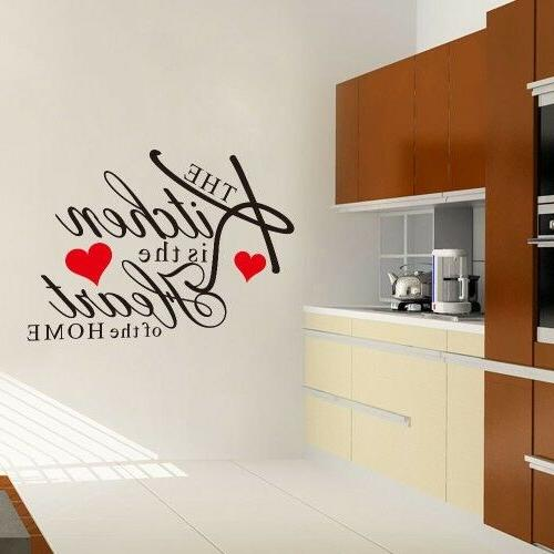 Kitchen Words Home Mural