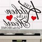 Kitchen Wall Vinyl Sticker Words Phrases Heart Removable Hom