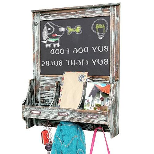MyGift Wood Wall Mail Sorter Rack Sign