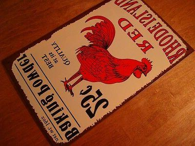Red Baking Sign Country Primitive Kitchen Chicken Decor