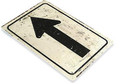 "TIN SIGN ""Arrow"" Street Metal Decor Wall Art Kitchen Sho"