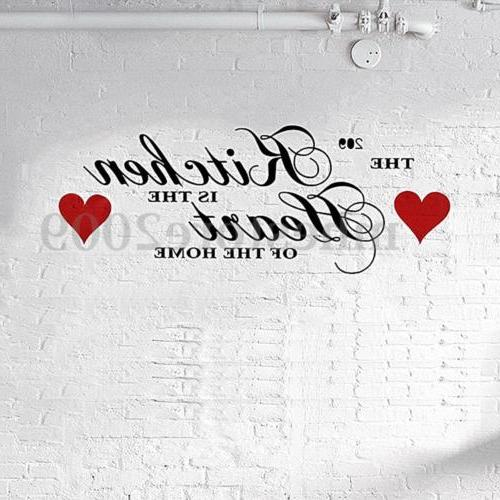 The Kitchen is The Heart of The Home Wall Sticker Decal Deco