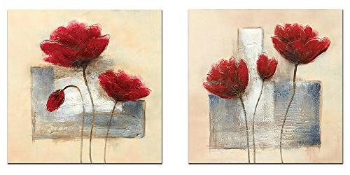 Wieco Art - Charming Spring Large Modern 2 Panels Gallery Wr