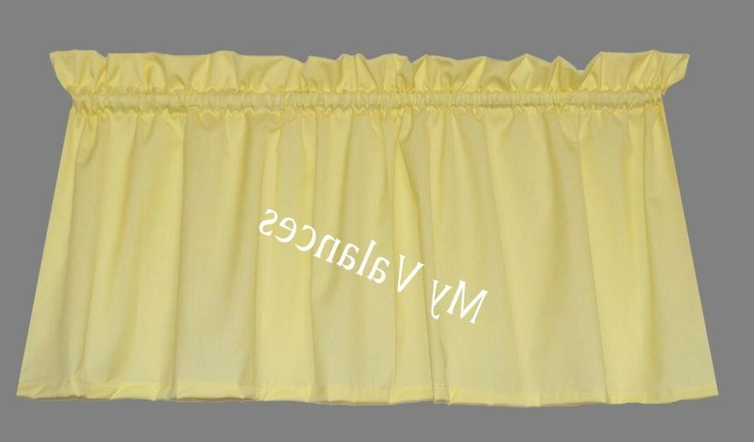 basic solid color daffodil yellow window valance
