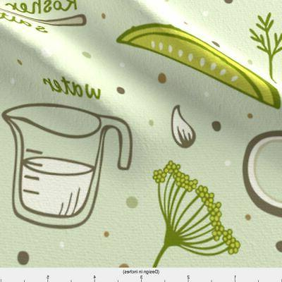 Canned Pickles Kitchen Decor by Spoonflower