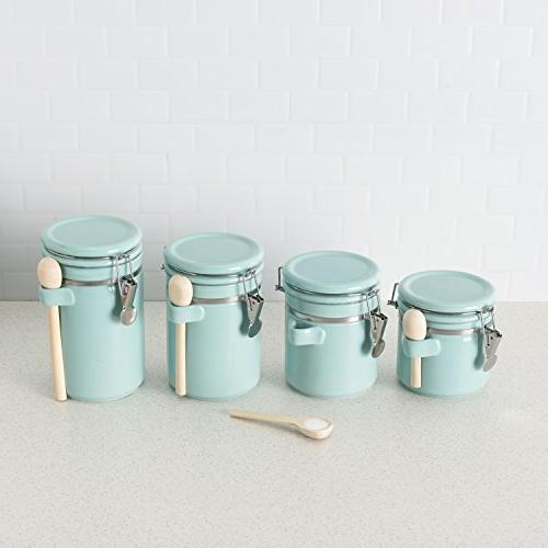 Home Canister Set W/Spoon