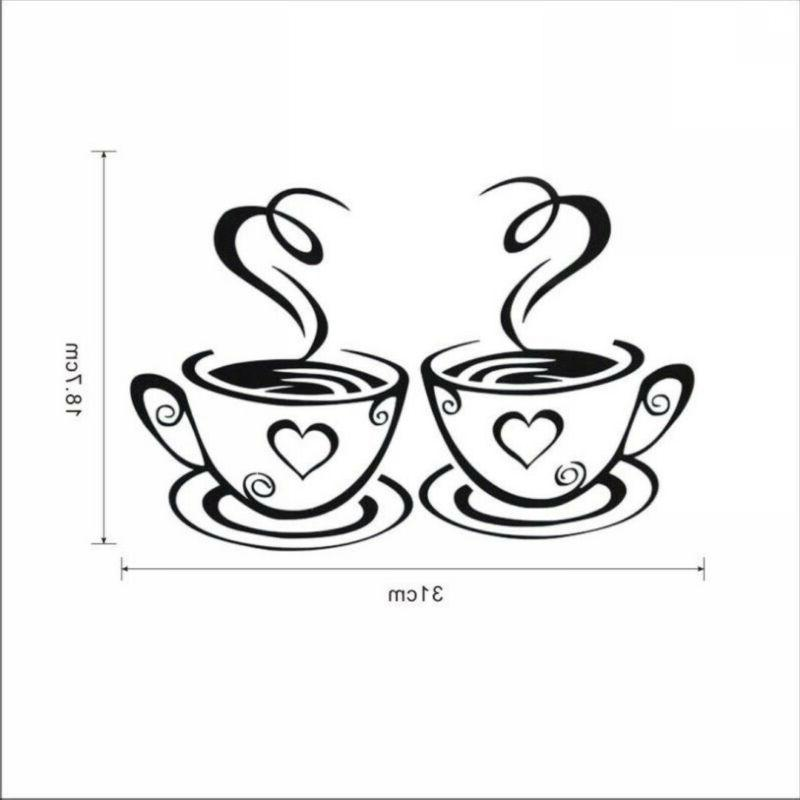 Coffee Cup Wall Sticker Decal Kitchen Restaurant Party .!