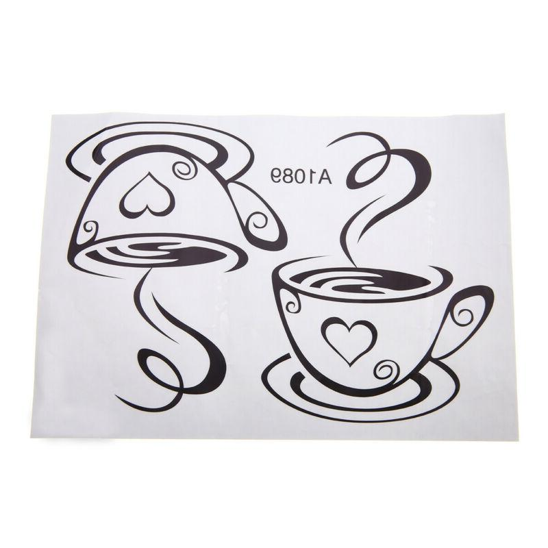 Coffee Wall Decal Restaurant Decor Party .!