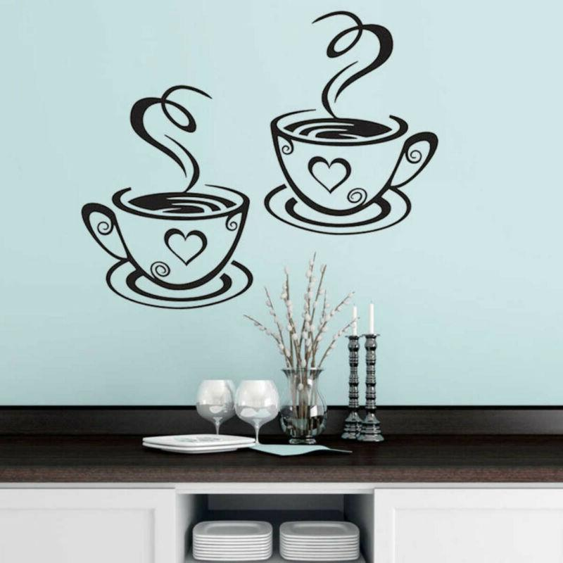 coffee cup cafe tea wall sticker decal