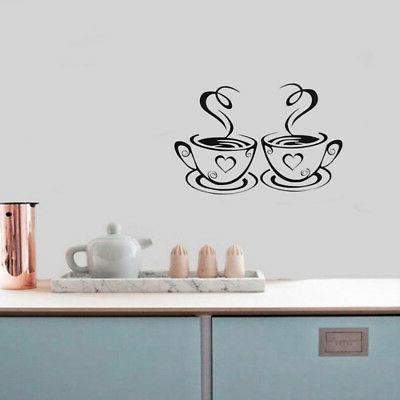 Coffee Cafe Vinyl Restaurant Pub Decor Wall Art