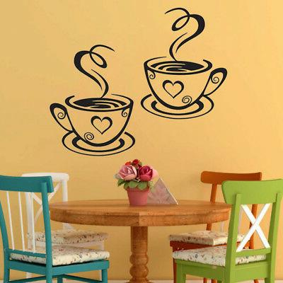 Coffee Cups Cafe Vinyl Pub Art