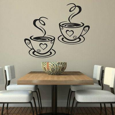 Coffee Vinyl Decal Pub Stickers Art