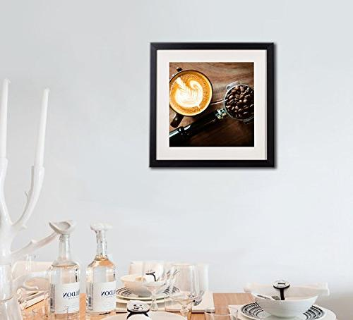 Coffee Decor Posters And Modern Still Kitchen Artwork Canvas Frame White Matte Beans For Decorations Pictures