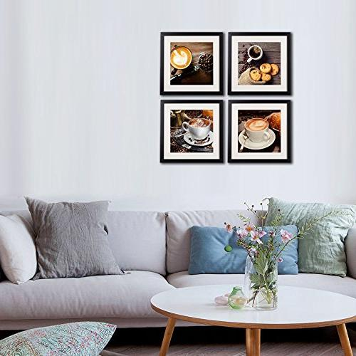 Coffee Framed Decor And Modern Kitchen Artwork Printed On Frame Matte Beans For Cafe Decorations Pictures