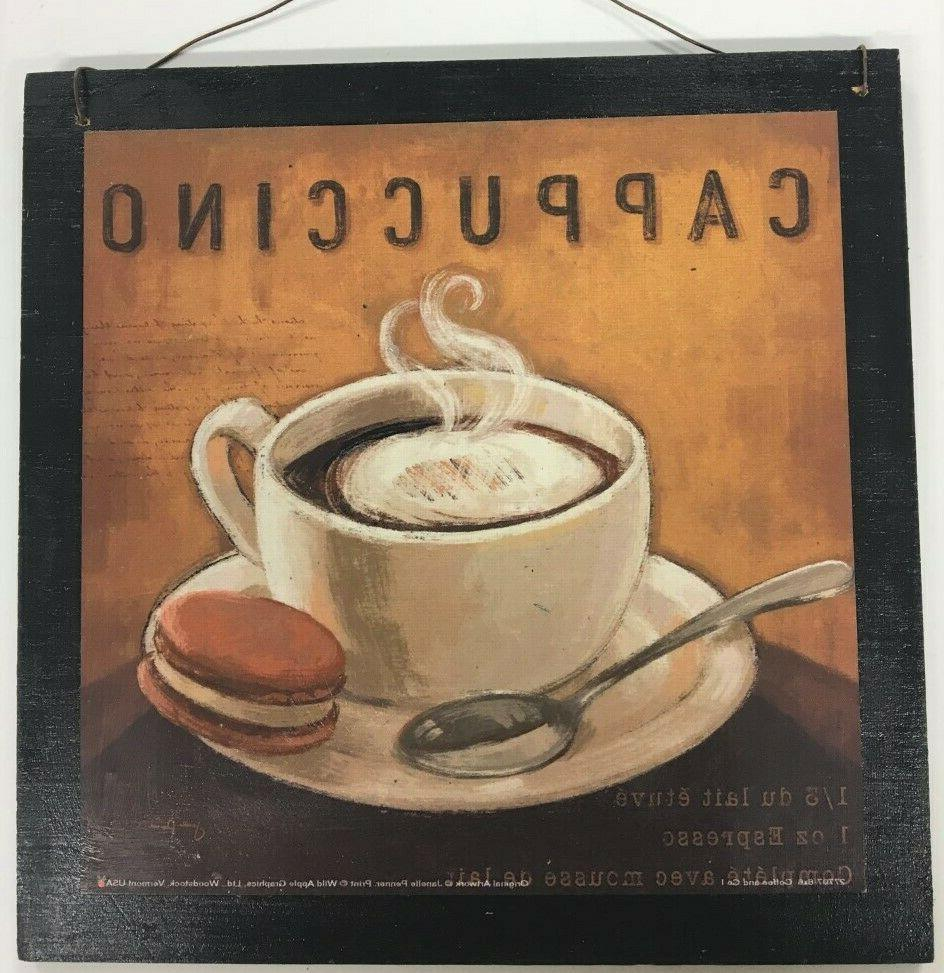coffee kitchen decor wooden wall art sign
