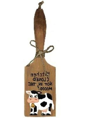 Cow CLOSED MOOD shelf sitter 12""