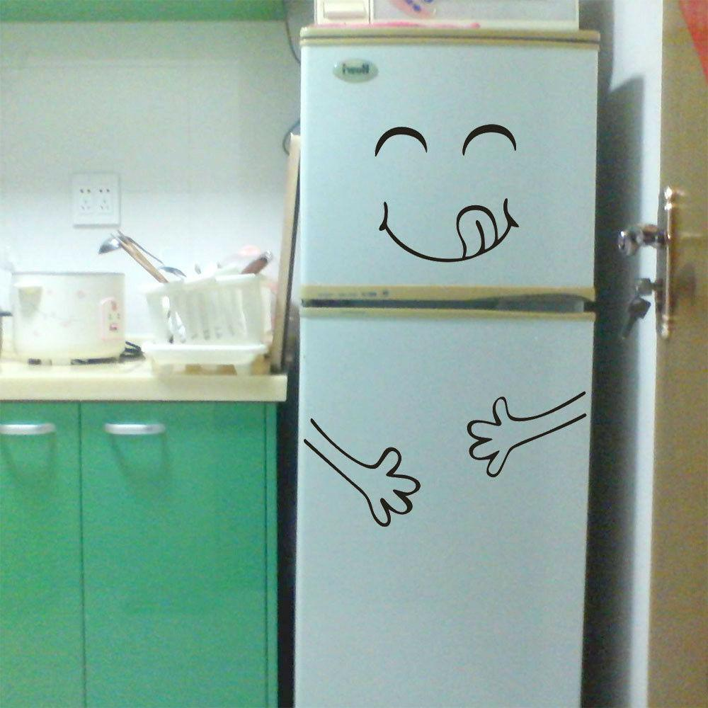 Cute Sticker Fridge Delicious Wall Home