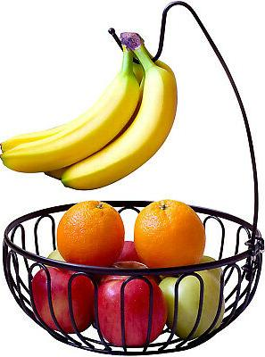 decobros wire fruit tree bowl with banana