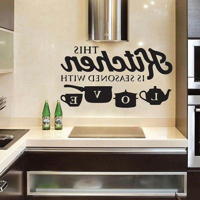 Creative KITCHEN Wall Sticker Vinyl Removable Decal Kitchen