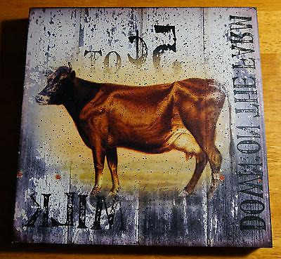 down on the farm cow milk rustic