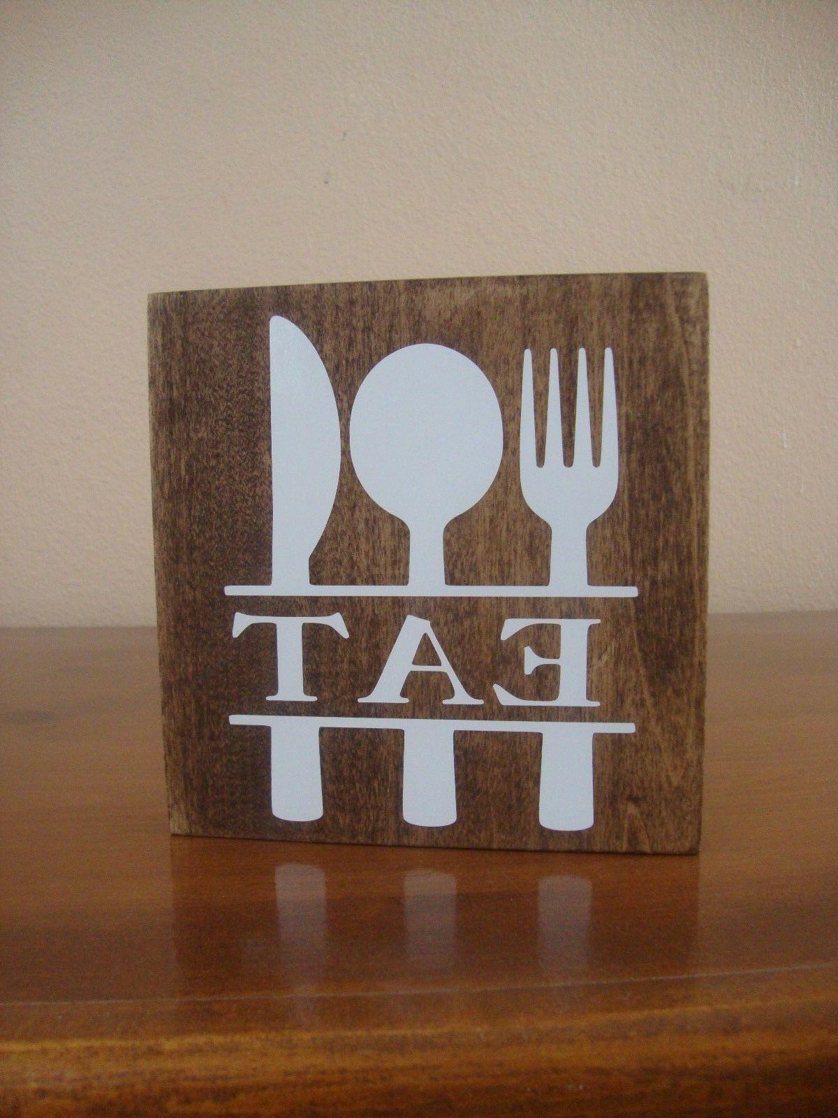 eat wood sign kitchen sign kitchen wall