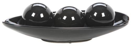 expressions black decorative bowl orb