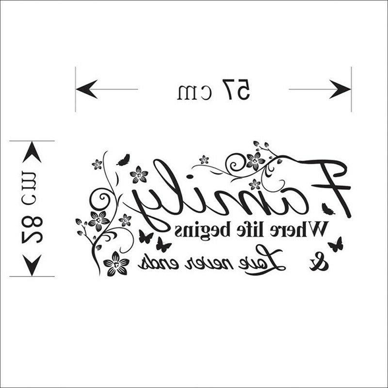 FAMILY Letter Stickers Vinyl Decal Living